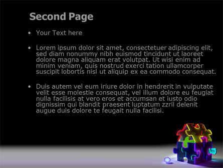 Jigsaw House PowerPoint Template, Slide 2, 08075, Consulting — PoweredTemplate.com