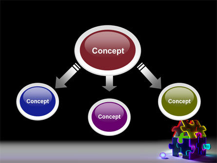 Jigsaw House PowerPoint Template, Slide 4, 08075, Consulting — PoweredTemplate.com