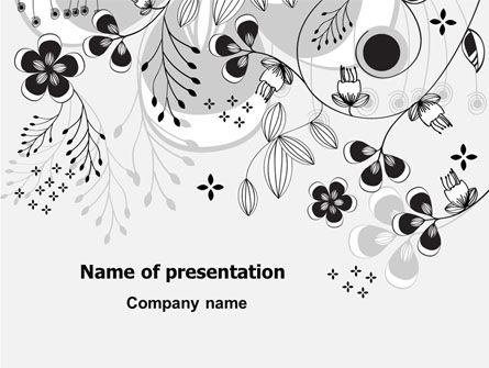 Nature & Environment: Floral Decor PowerPoint Template #08076