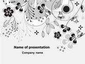 Nature & Environment: Modelo do PowerPoint - decoração floral #08076
