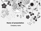 Nature & Environment: 파워포인트 템플릿 - 꽃 장식 #08076