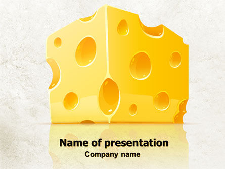 Piece of Cheese PowerPoint Template, 08077, Food & Beverage — PoweredTemplate.com