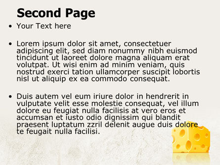 Piece of Cheese PowerPoint Template Slide 2