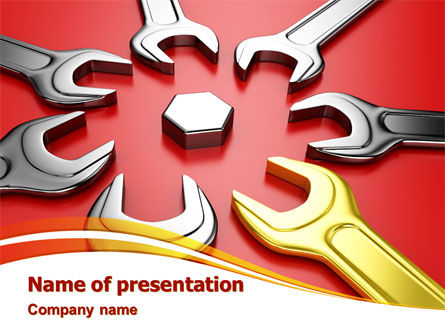 Wrench Flower PowerPoint Template, 08082, Utilities/Industrial — PoweredTemplate.com
