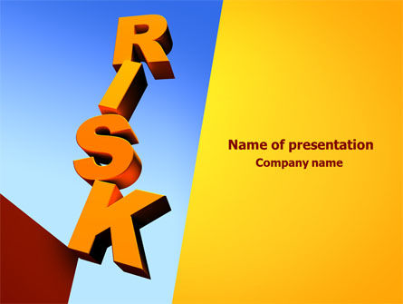 Risk PowerPoint Template, 08083, Consulting — PoweredTemplate.com