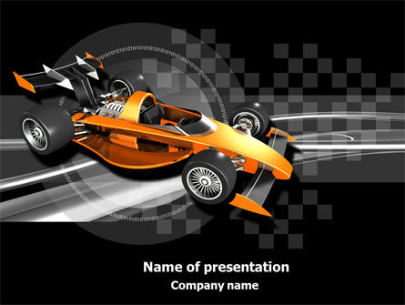 Sports: Racer PowerPoint Template #08084