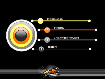 Racer PowerPoint Template Slide 3