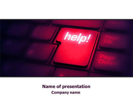Help Button PowerPoint Template, 08085, Consulting — PoweredTemplate.com