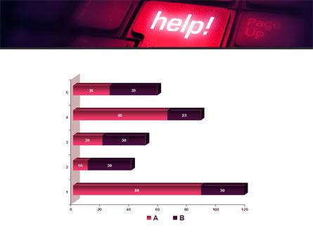 Help Button PowerPoint Template Slide 11
