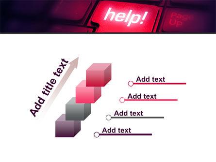 Help Button PowerPoint Template Slide 14