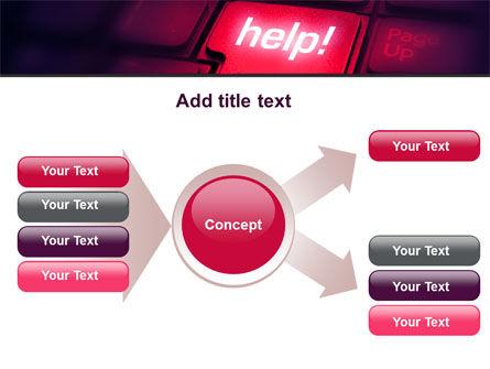 Help Button PowerPoint Template Slide 15