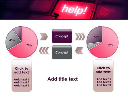 Help Button PowerPoint Template Slide 16