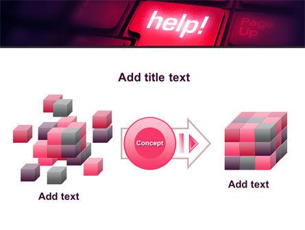 Help Button PowerPoint Template Slide 17