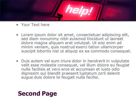 Help Button PowerPoint Template, Slide 2, 08085, Consulting — PoweredTemplate.com