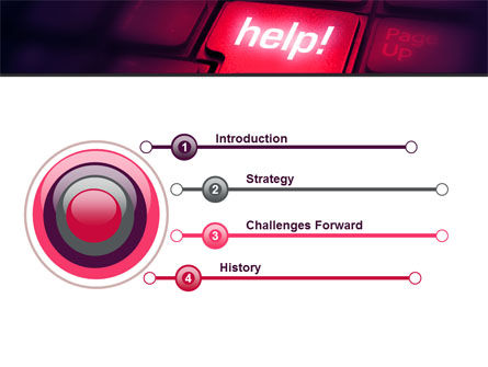 Help Button PowerPoint Template, Slide 3, 08085, Consulting — PoweredTemplate.com