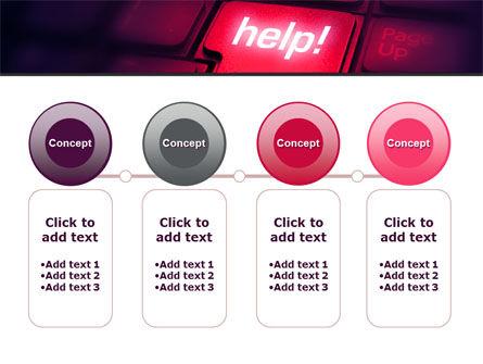 Help Button PowerPoint Template Slide 5