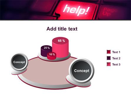 Help Button PowerPoint Template Slide 6