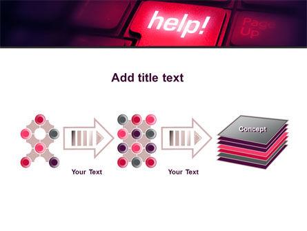 Help Button PowerPoint Template Slide 9