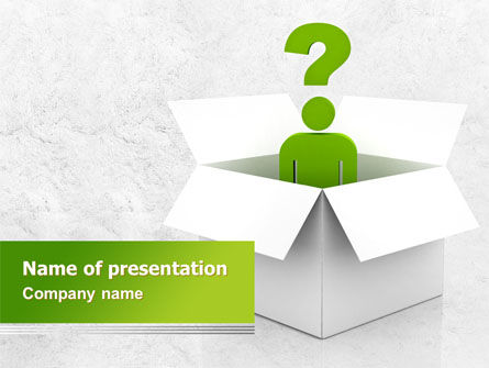 Consulting: Question Man PowerPoint Template #08088