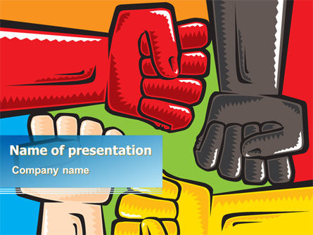 Fists Together PowerPoint Template