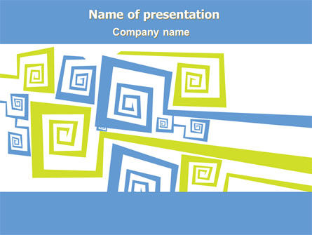 Qubic Decor PowerPoint Template, 08091, Abstract/Textures — PoweredTemplate.com