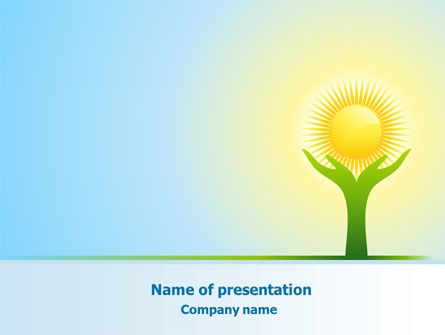 Sun Light PowerPoint Template, 08094, Religious/Spiritual — PoweredTemplate.com