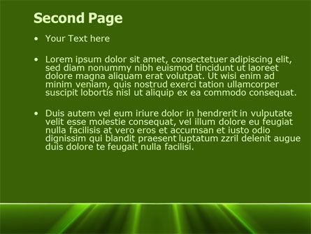 Green Horizon PowerPoint Template, Slide 2, 08095, Abstract/Textures — PoweredTemplate.com