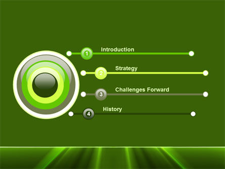 Green Horizon PowerPoint Template Slide 3
