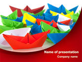 Cars and Transportation: Paper Ships PowerPoint Template #08096