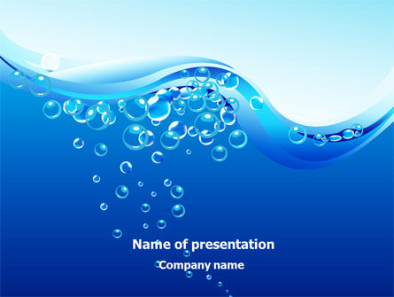 Water Bubbles Powerpoint Template, Backgrounds | 08098
