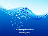 Nature & Environment: Water Bubbles PowerPoint Template #08098