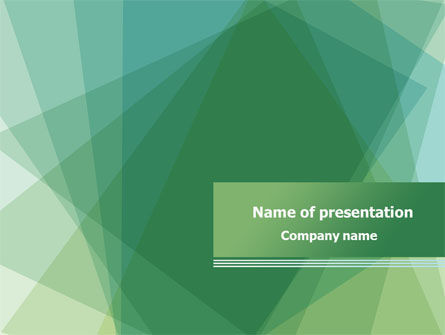 Green Paper Sheets PowerPoint Template