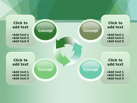 Green Paper Sheets PowerPoint Template Slide 9