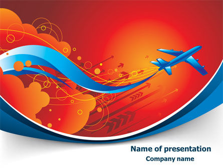 Airfare PowerPoint Template, 08100, Business Concepts — PoweredTemplate.com