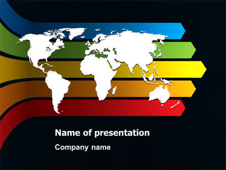 World Consolidation PowerPoint Template, 08102, Global — PoweredTemplate.com