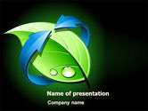 Nature & Environment: Green Recycling PowerPoint Template #08104