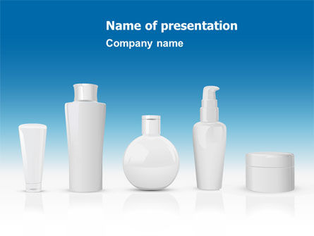 Toiletries PowerPoint Template, 08105, Careers/Industry — PoweredTemplate.com
