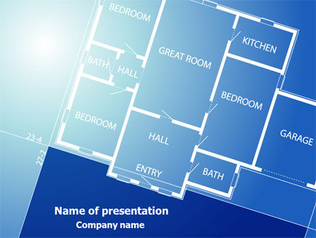Construction: Room Layout Planning PowerPoint Template #08106