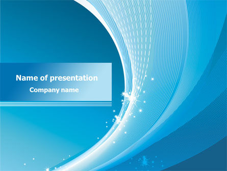 Ice Blue Theme PowerPoint Template