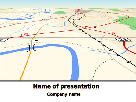 Road Map PowerPoint Template, 08109, Careers/Industry — PoweredTemplate.com