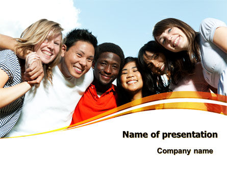 Summer Camp PowerPoint Template, 08110, Education & Training — PoweredTemplate.com