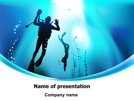 Diving Lessons PowerPoint Template, 08111, Sports — PoweredTemplate.com