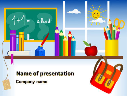 Education & Training: Primary Schooling PowerPoint Template #08115