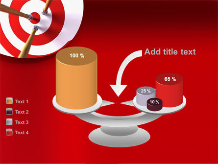 Red Target PowerPoint Template Slide 10