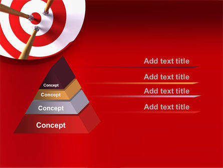 Red Target PowerPoint Template Slide 12