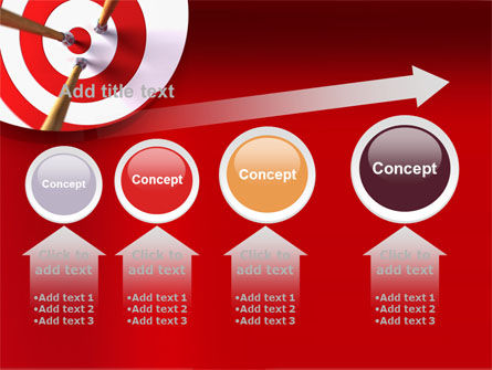 Red Target PowerPoint Template Slide 13