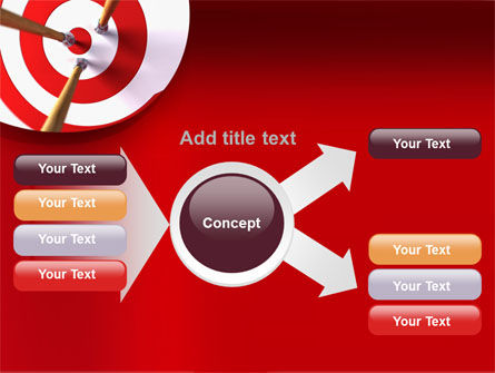 Red Target PowerPoint Template Slide 14