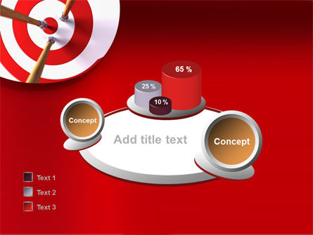 Red Target PowerPoint Template Slide 16