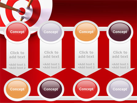 Red Target PowerPoint Template Slide 18