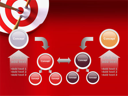 Red Target PowerPoint Template Slide 19
